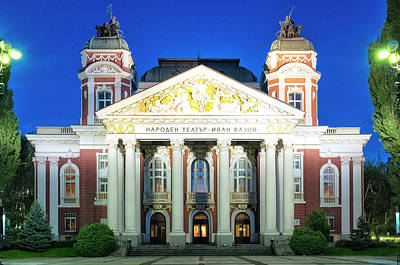 Photograph - Ivan Vazov National Theatre by Fabrizio Troiani