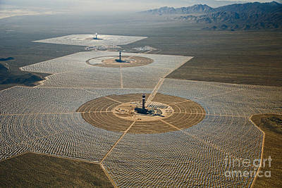 Photograph - Ivanpah Solar Power Plant by Jim West
