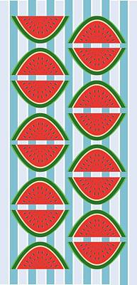Watermelon Drawing - I've Been Drinking Watermelon by Lauren Amelia Hughes