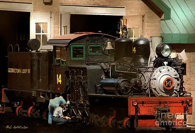 I've Been Working On The Railroad Art Print by RC DeWinter