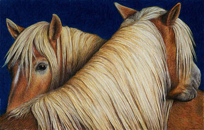 Colored Pencil Painting - I've Got Your Back by Pat Erickson