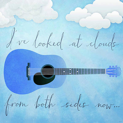 Joni Mitchell Painting - I've Looked At Clouds From Both Sides Now by Little Bunny Sunshine