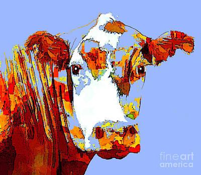 Photograph - Purple Cow by Joyce Creswell