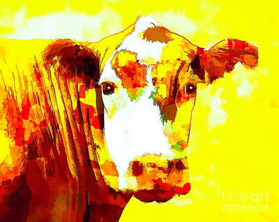 Photograph - Yellow Cow by Joyce Creswell