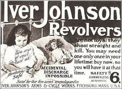 Digital Art - Iver Johnson Revolvers by Reinvintaged