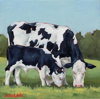 Painting - Ivory And Calf Mini Painting  by Margaret Stockdale