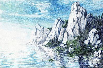 Ivory Cliffs Art Print by Nils Bifano