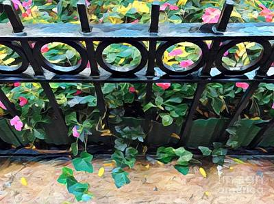 Photograph - Ivy At The Gate - Summer In The City by Miriam Danar