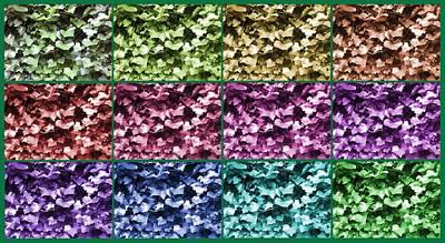 City Scenes - Ivy colour progression 1 by Julia Woodman