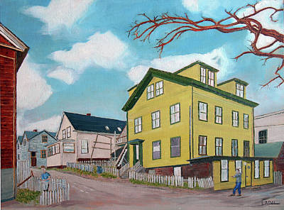 Painting - Ivy Court Before Urban Renewal by Laurence Dahlmer
