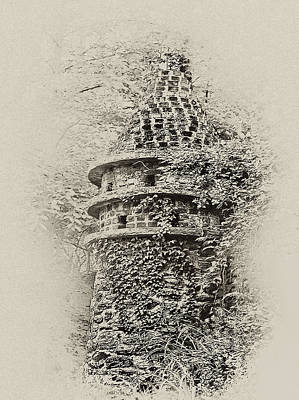 Ivy Covered Castle In The Woods Art Print by Bill Cannon