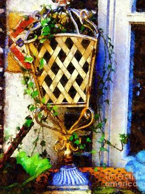 Ivy French Country White Art Print by Janine Riley