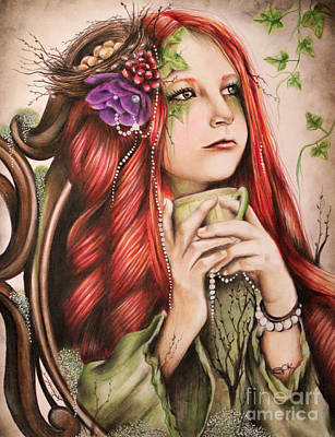 Drawing - Ivy by Sheena Pike