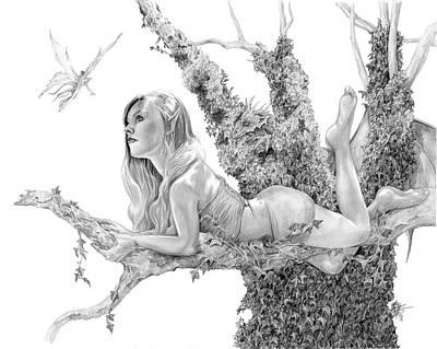 Digital Art - Ivy's Tree by Rob Carlos