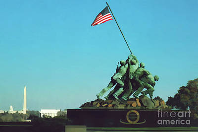 Digital Art - Iwo Jima by D Hackett