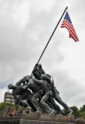 Photograph - Iwo Jima Memorial by Charles HALL
