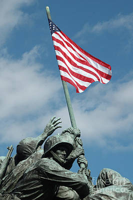 Photograph - Iwo Jima Memorial by Larry Johnston