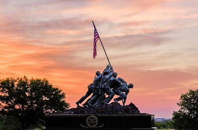 Photograph - Iwo Jima Memorial Sunrise by Michael Donahue