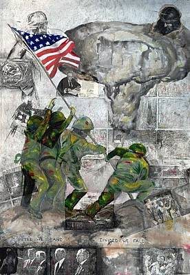 Iwo Jima Drawing - Iwo Jima by Xan Gilligan