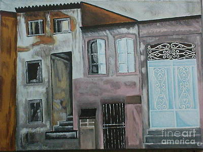 Old Neighbourhood Painting - Izmir by Eleni Moulou