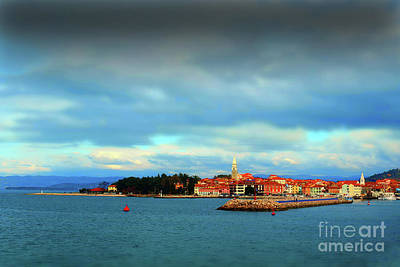 Photograph - Izola From The Marina by Graham Hawcroft pixsellpix