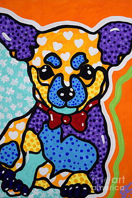 Painting - Izzy The Chihuahua Dog Puppy  by Jackie Carpenter