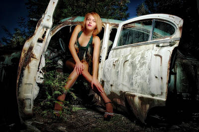Chev Photograph - Izzy's Buick by Jerry Golab