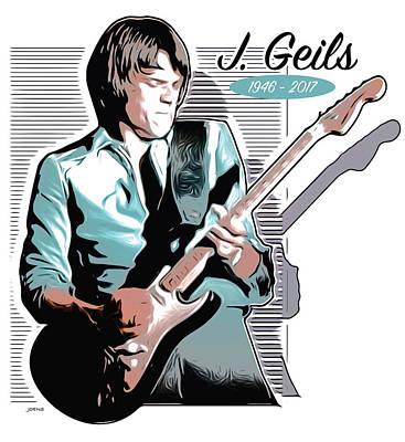 Drawings - J Geils by Greg Joens