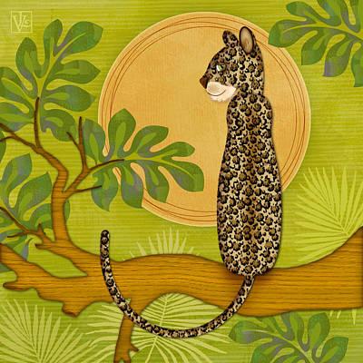 Animal Alphabet Digital Art - J Is For Jaguar by Valerie Drake Lesiak