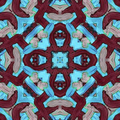 Digital Art - J U L -month- -pattern- by Coded Images