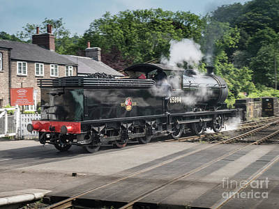 Photograph - J27 Locomotive 65894 On North York Moors Railway by Simon Pocklington