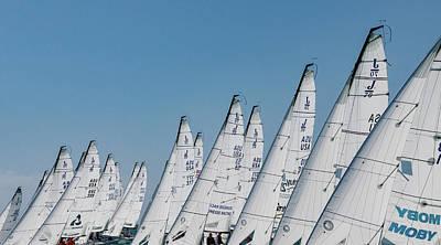 Photograph - J70 Key West Start by Steven Lapkin