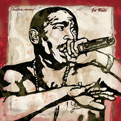 Ja Rule Pop Stylised Art Sketch Poster Art Print by Kim Wang