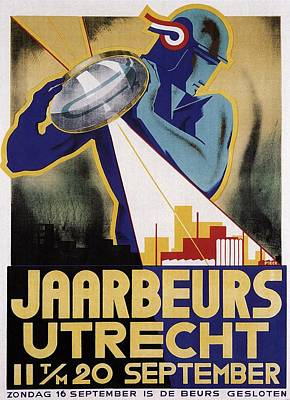 Royalty-Free and Rights-Managed Images - Jaarbeurs Utrecht - Yearly Festival in Utrecht, the Netherlands - Vintage Exposition Poster by Studio Grafiikka