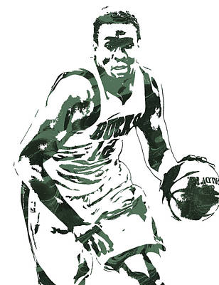 Mixed Media - Jabari Parker Milwaukee Bucks Pixel Art 3 by Joe Hamilton