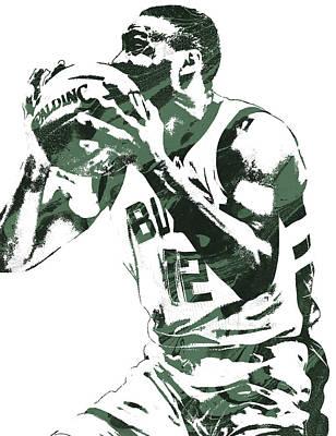 Mixed Media - Jabari Parker Milwaukee Bucks Pixel Art 4 by Joe Hamilton