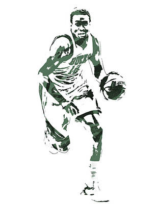Free Mixed Media - Jabari Parker Milwaukee Bucks Pixel Art 5 by Joe Hamilton