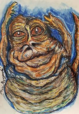 Jabba Painting - Jabba The Hutt Exercise by Geraldine Myszenski