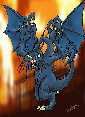 Jabberwocky Digital Art - Jabberwock by Sean Williamson