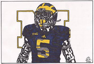 Drawing - Jabril Peppers by Jeremiah Colley