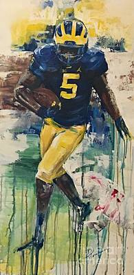 Pepper Painting - Jabrill Peppers by Denise Morencie