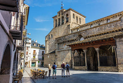 Jaca, Spain.  Romanesque Cathedral Art Print