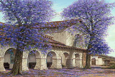 Old San Juan Painting - Jacaranda by Doug Kreuger