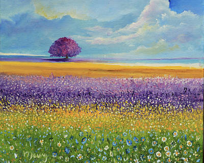 Painting - Jacaranda In The Valley by Alicia Maury