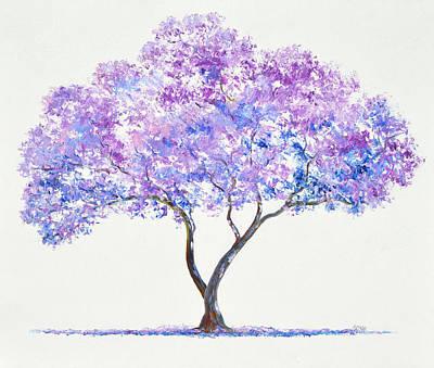 Painting - Jacaranda Tree Painting by Jan Matson