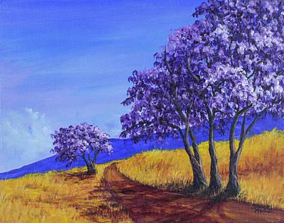 Painting - Jacaranda Trees Maui by Darice Machel McGuire