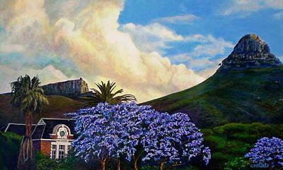 Jacaranda Tree Painting - Jacaranda Under Lion by Michael Durst