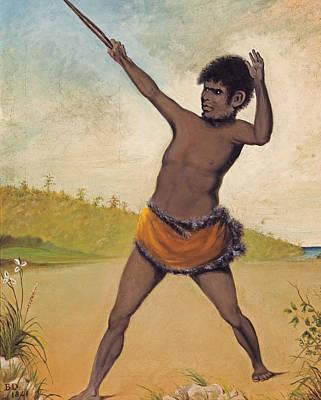 Aborigine Painting - Jack, A Tasmanian Aboriginal, Holding A Club by Benjamin Duterrau