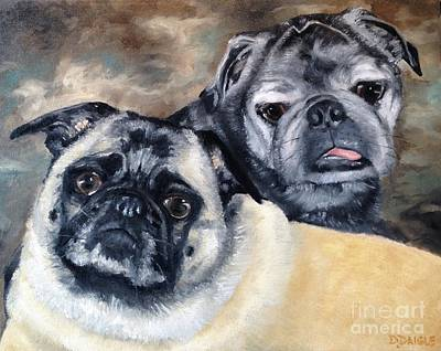 Painting - Jack And Bella by Diane Daigle