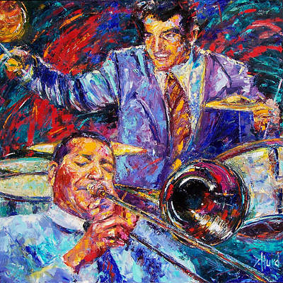 Jack And Gene Print by Debra Hurd
